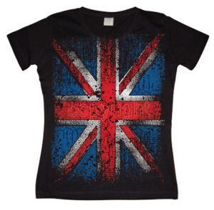 Distressed Union Jack Flag T-shirt donna