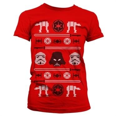 Star Wars AT-AT X-Mas Knit T-shirt donna