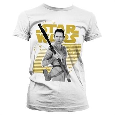 Star Wars Rey Gold Logo T-shirt donna