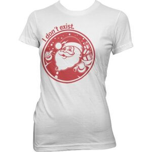 Santa Don't Exist! T-shirt donna