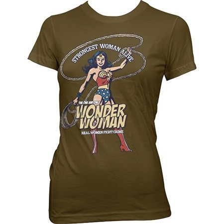 Wonder Woman - Strongest Woman Alive T-shirt donna
