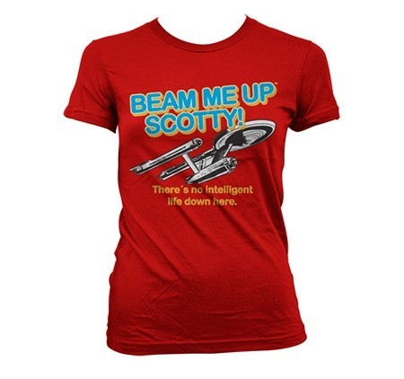 Star Trek - Beam Me Up Scotty T-shirt donna