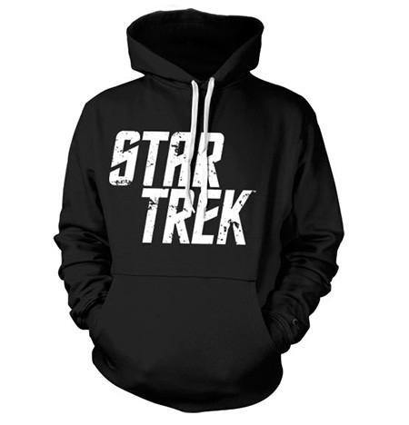 Star Trek Distressed Logo Felpa con Berrettopuccio
