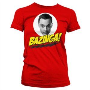 Bazinga Sheldons Head T-shirt donna
