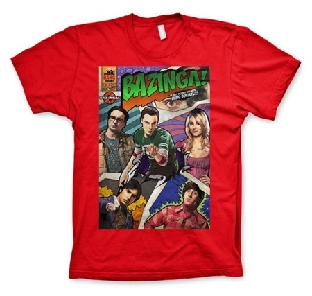 Big Bang Theory - Bazinga Comic Cover T-Shirt
