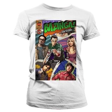 Big Bang Theory - Bazinga Comic Cover T-shirt donna