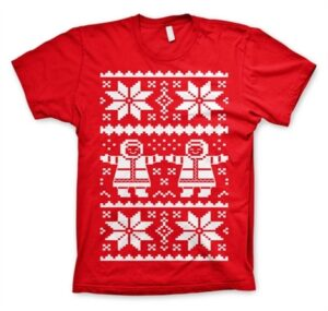 Retro X-Mas Knit Pattern T-Shirt