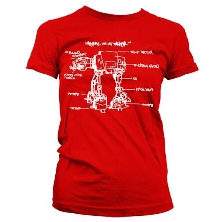 AT-AT Sketch T-shirt donna