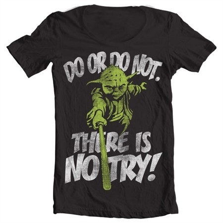 There Is No Try - Yoda T-shirt collo largo