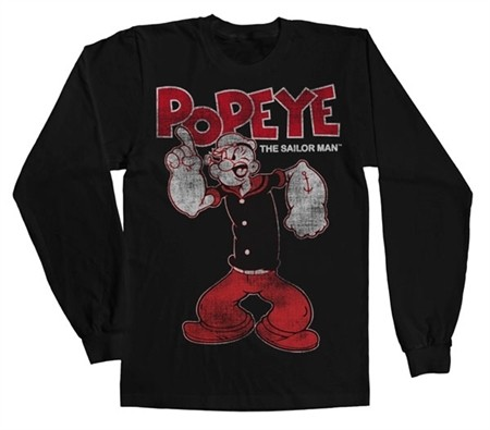 Popeye Distressed Sailor Man Long Sleeve T-shirt