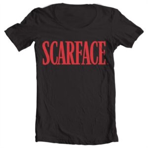 Scarface Logo T-shirt donna collo largo