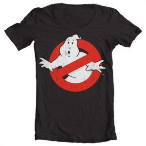 Ghostbusters Distressed Logo T-shirt collo largo