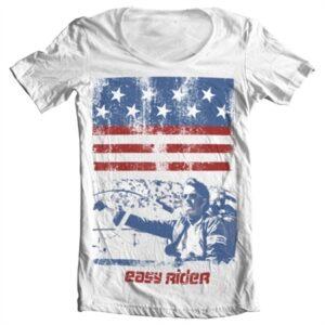 Easy Rider America T-shirt collo largo