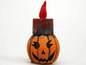 Candela Zucca con luce Halloween