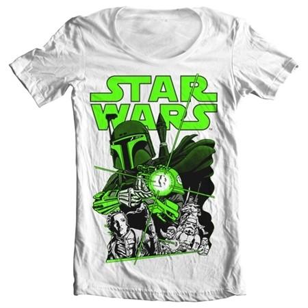 Vintage Boba Fett T-shirt collo largo