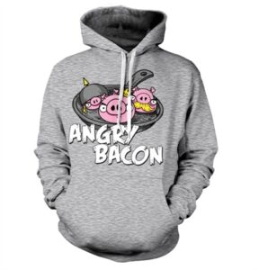 Angry Bacon Felpa con Berrettopuccio