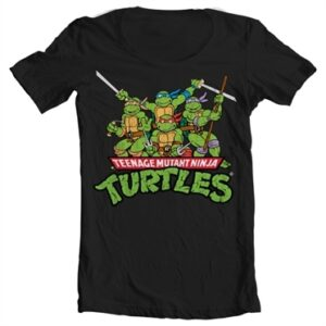 Turtles Distressed Group T-shirt collo largo