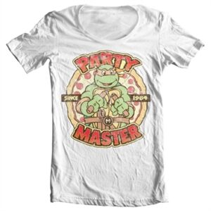 TMNT - Party Master Since 1984 T-shirt collo largo