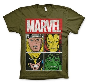 Marvel Distressed Characters T-Shirt