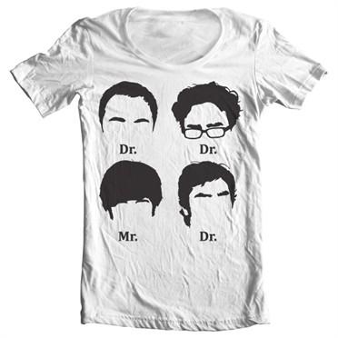 Big Bang Theory Prefix Heads T-shirt collo largo