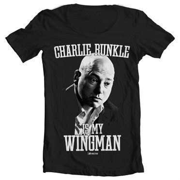 Charlie Runkle Is My Wingman T-shirt collo largo