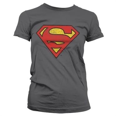 Superman Washed Shield T-shirt donna