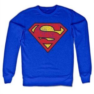 Superman Washed Shield Felpa