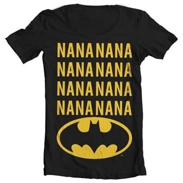NaNa Batman T-shirt collo largo