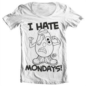 Mr Potato Head - I Hate Mondays T-shirt collo largo