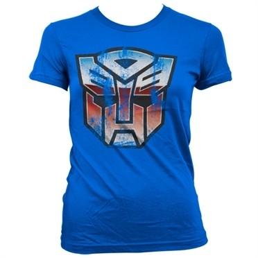 Distressed Autobot Shield T-shirt donna