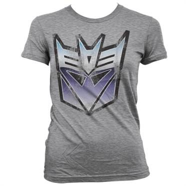 Distressed Decepticon Shield T-shirt donna