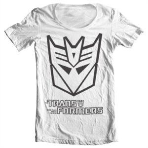 Transformers Decepticon Logo T-shirt collo largo