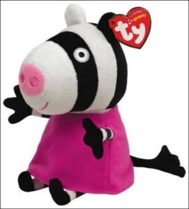 Peluche Zoe la Zebra Peppa Pig 20 cm TY