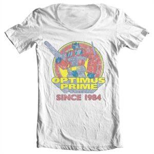 Optimus Prime Since 1984 T-shirt collo largo