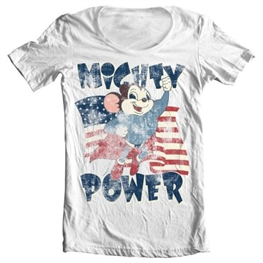 Mighty Power T-shirt collo largo