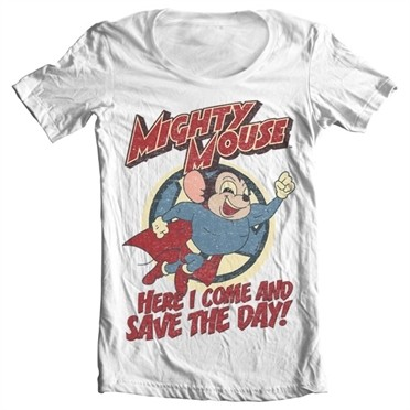 Mighty Mouse - Save The Day T-shirt collo largo