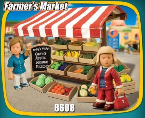 Playset personaggi Mercato della Frutta