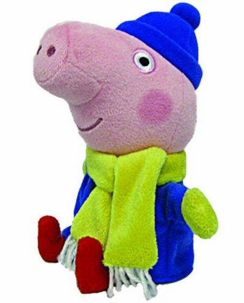 Peluche Peppa Pig George Winter