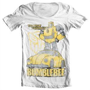 Bumblebee Distressed T-shirt collo largo