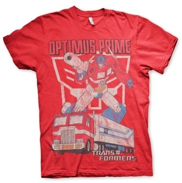 Optimus Prime Distressed T-Shirt