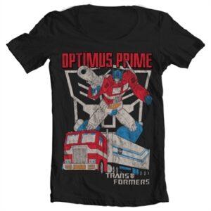 Optimus Prime Distressed T-shirt collo largo