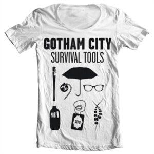 Gotham Survival Tools T-shirt collo largo