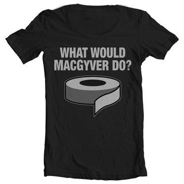 What Would MacGyver Do T-shirt collo largo