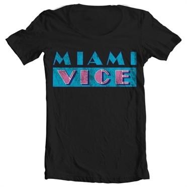 Miami Vice Distressed T-shirt collo largo