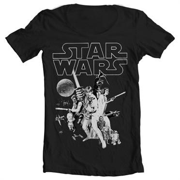 Star Wars Classic Poster T-shirt collo largo