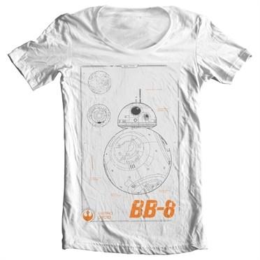 BB-8 Blueprint T-shirt collo largo