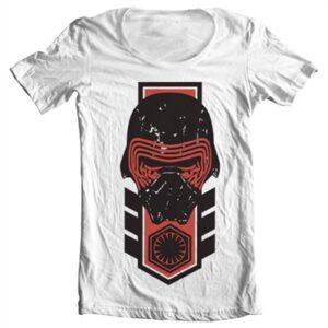 Kylo Ren Distressed T-shirt collo largo