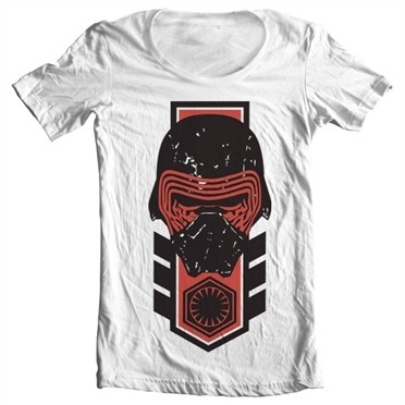 Kylo Ren Distressed T-shirt collo largo