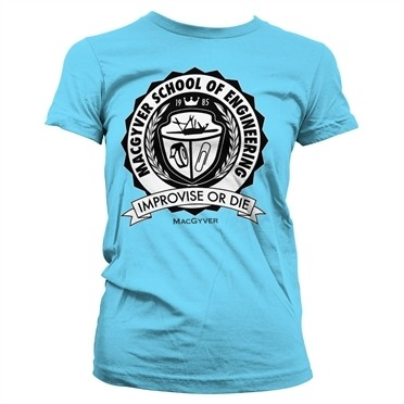 Macgyver School Of Engineering T-shirt donna