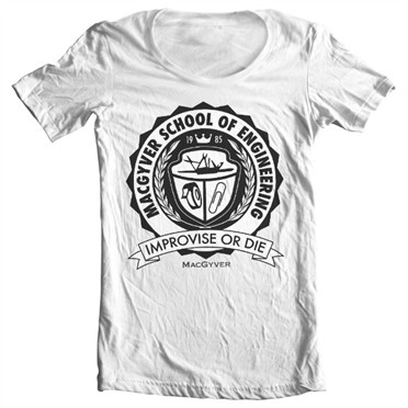 Macgyver School Of Engineering T-shirt collo largo